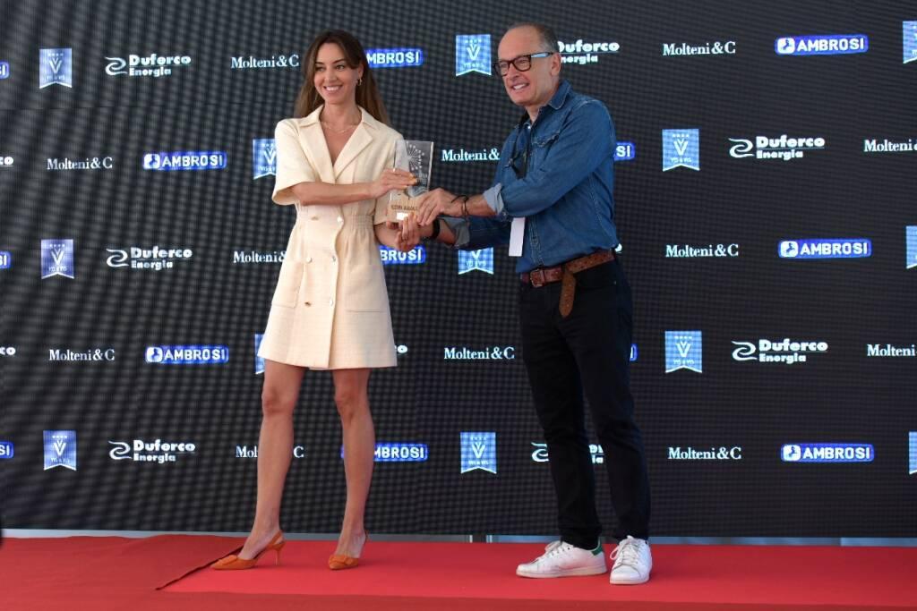 Aubrey Plaza con Stefano Gallini Durante_Riviera Int Film