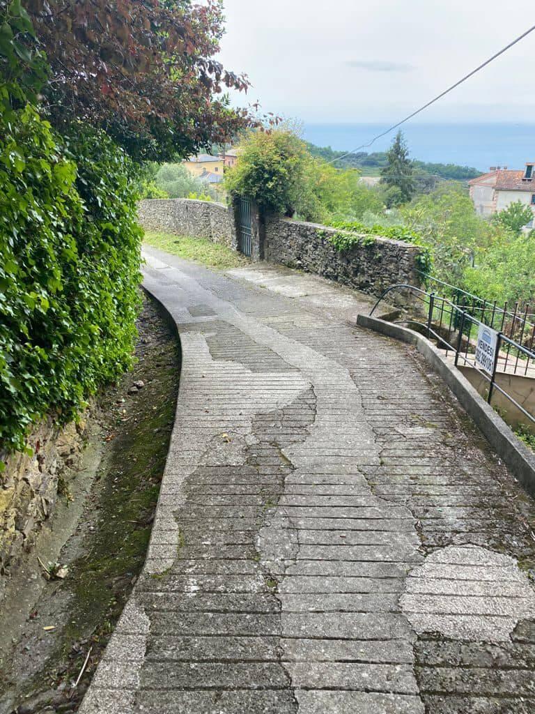 camogli, strade pedonali, sentieri