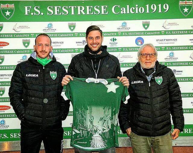 d.s. CATANIA, EDOARDO MURA e il d.g. D'ACIERNO, sestrese calcio