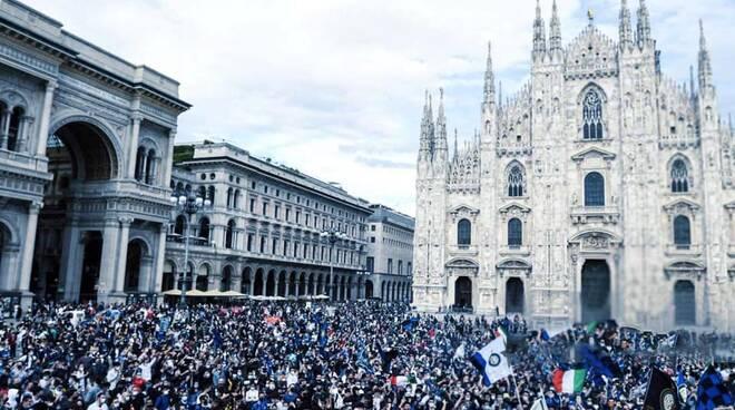 Festa scudetto a Milano
