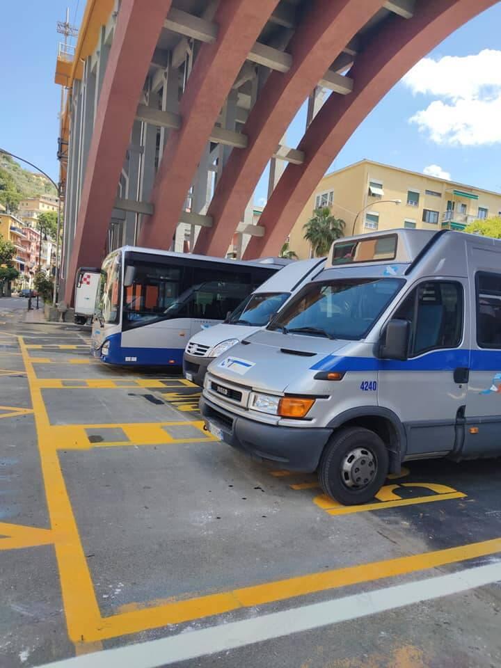 Recco, capolinea, bus