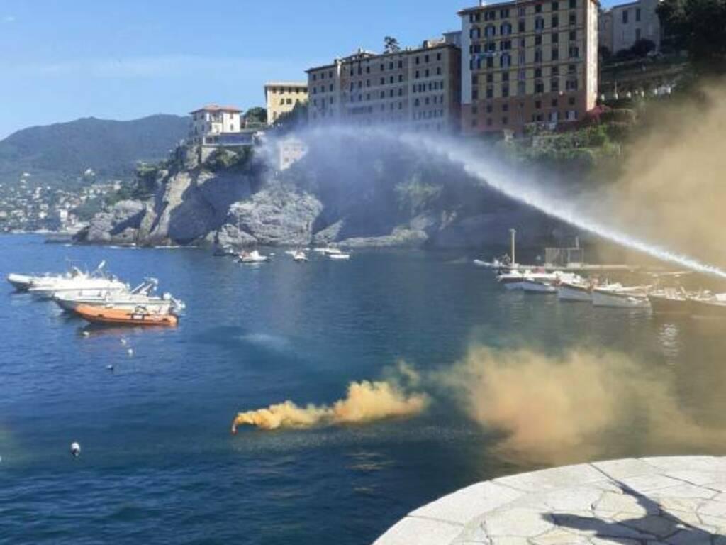 esercitazione antincendio a camogli (ph Consuelo)