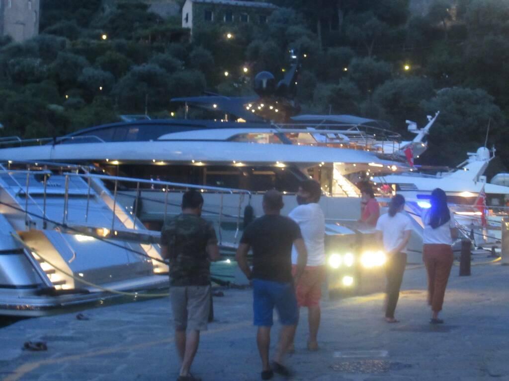notte, yacht, barche
