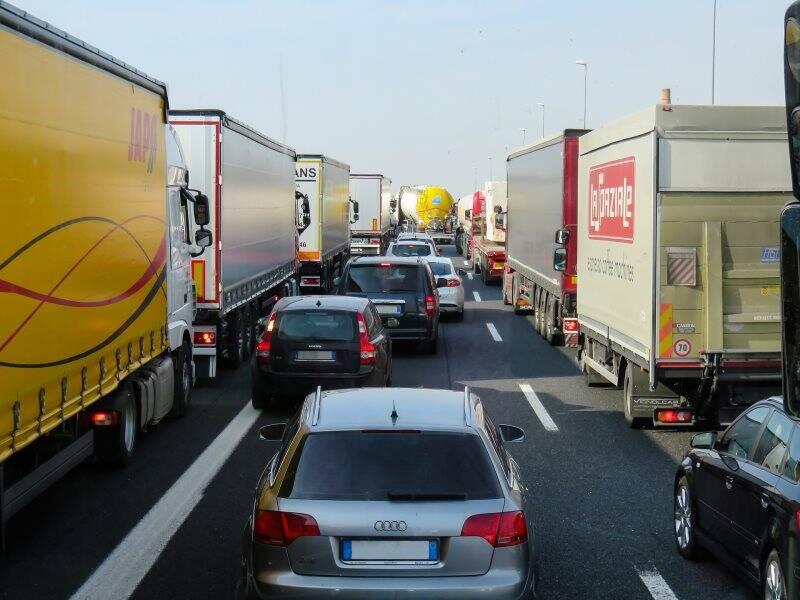 traffico, coda, autostrade