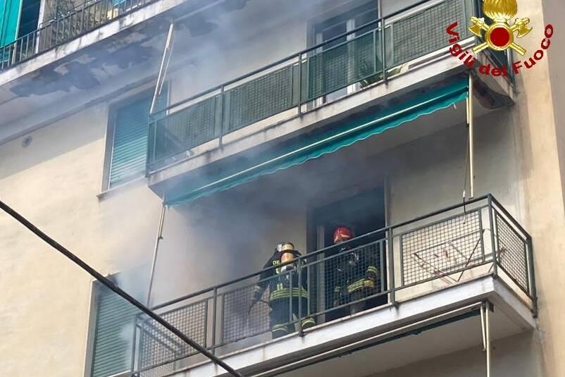 incendio a Levanto