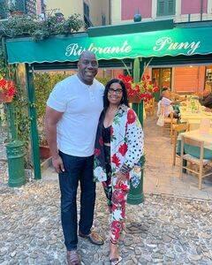 Johnson e la moglie