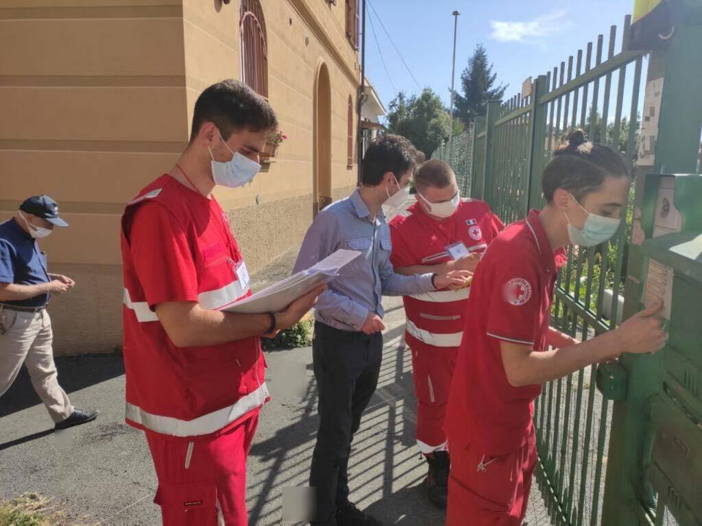 monitoraggio croce rossa a Chiavari