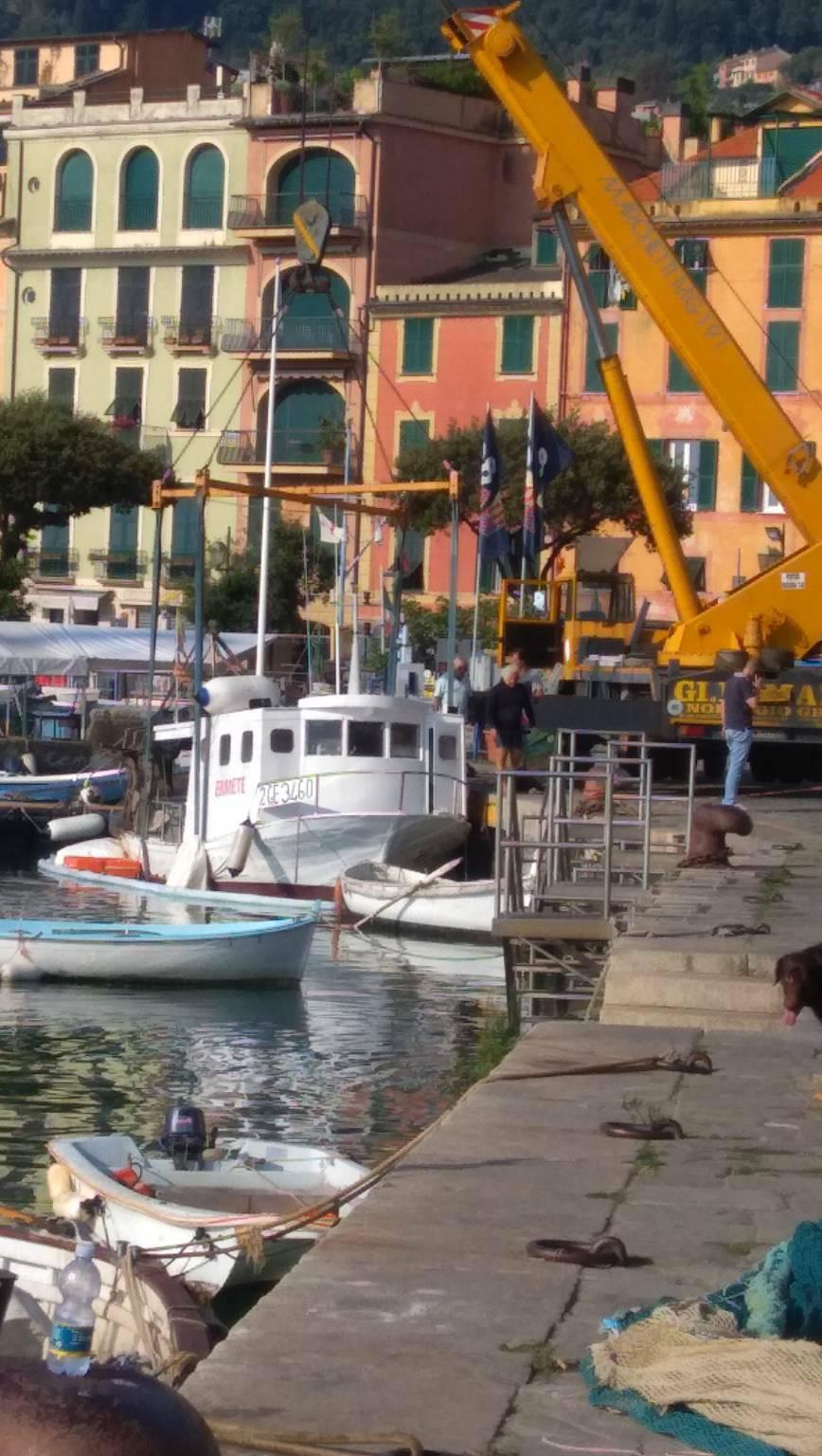 peschereccio affondato a Santa Margherita