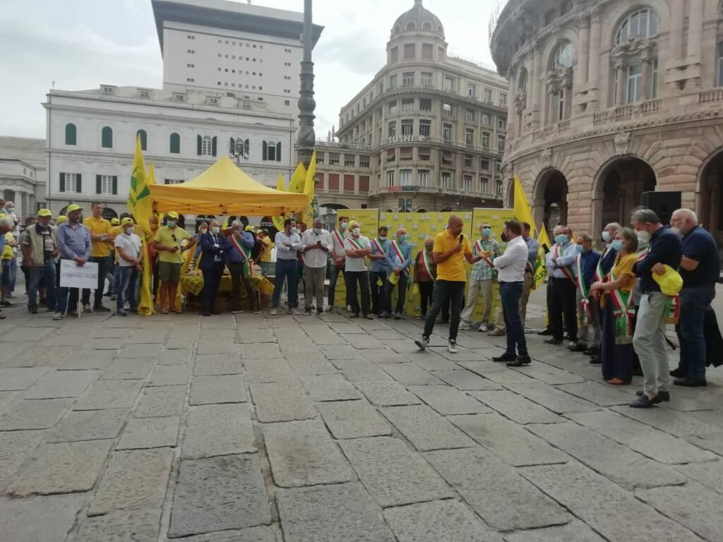 protesta coldiretti contro i cinghiali