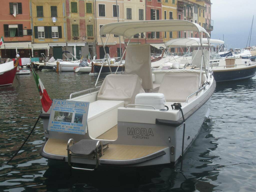 taxi-boat all'ormeggio