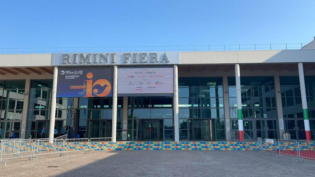 Gandolfo allo stand della Focaccia di Recco a Rimini