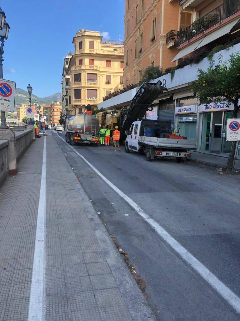 strade, asfaltatura, rapallo