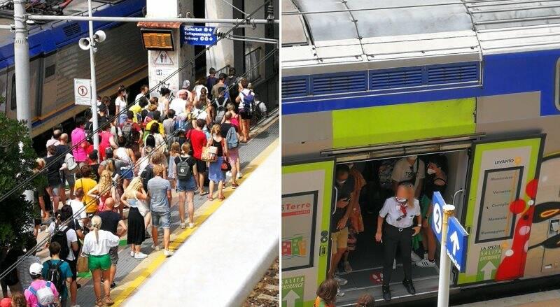 turismo, cinque terre, treni
