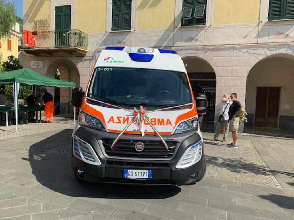 ambulanza a pressione, croce verde bogliasco