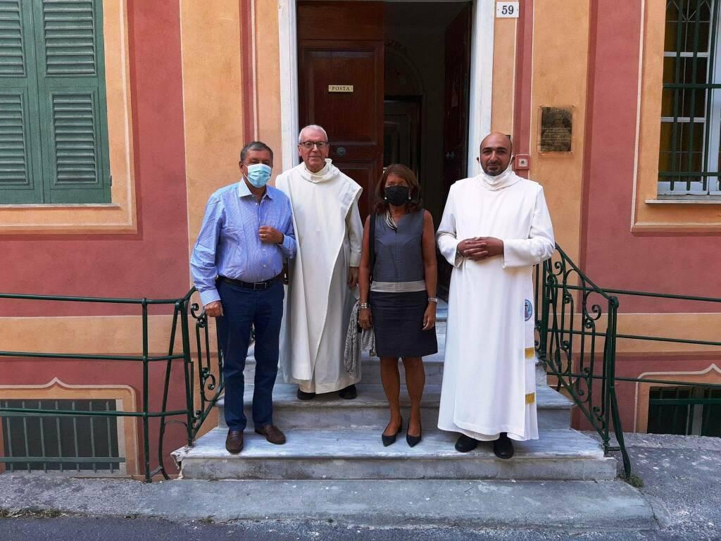 Camogli monastero olivetani visita Francesco Profumo