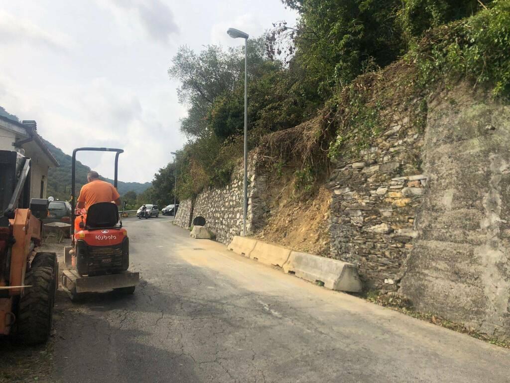 Chiavari crollo muro a Maxena