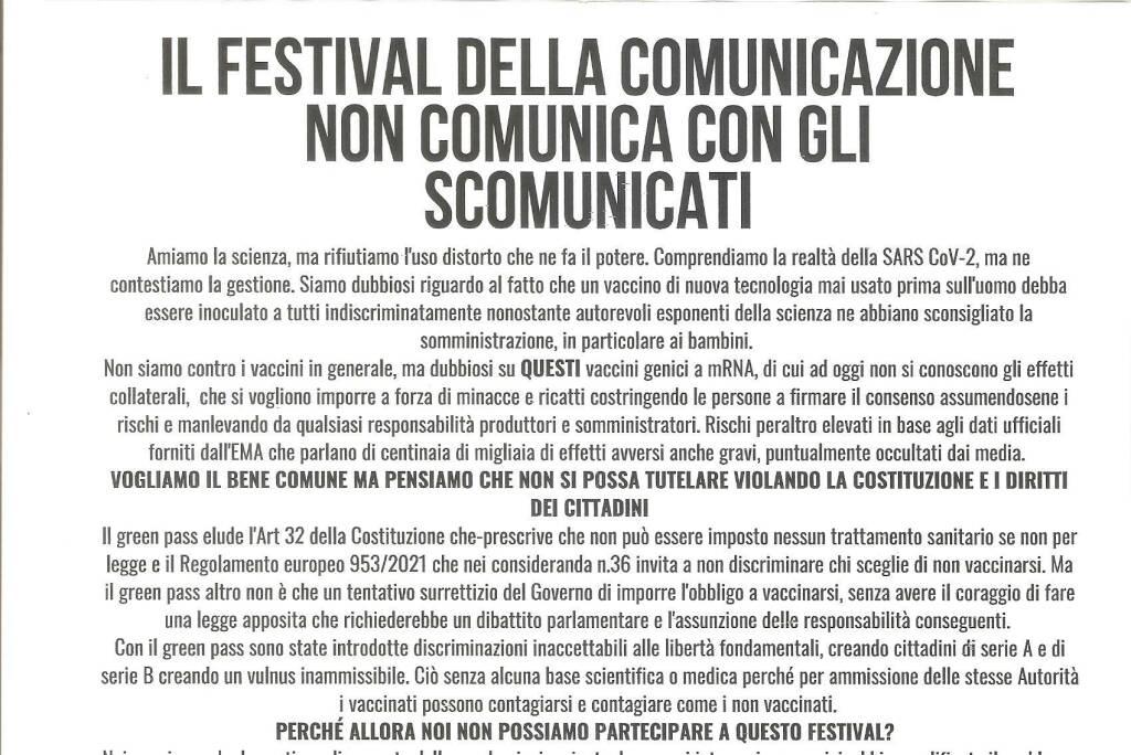 no green pass al festival di Camogli