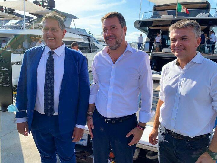 Toti - Salvini e Rixi al Nautico