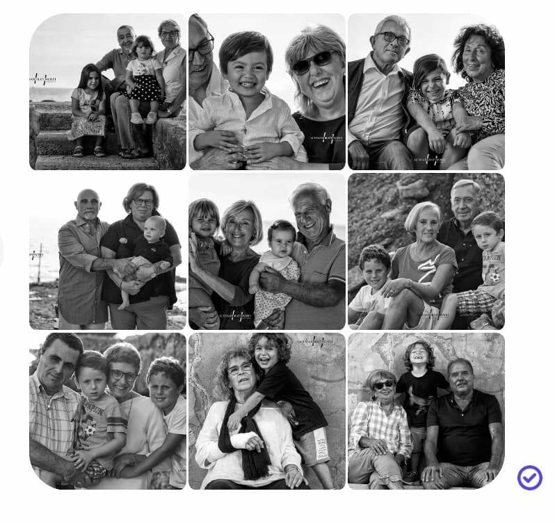 Camogli foto Tommei nonni nipoti