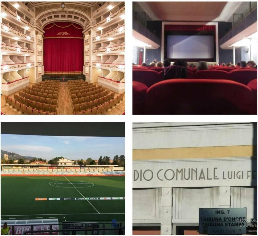 stadi, teatri, cinema