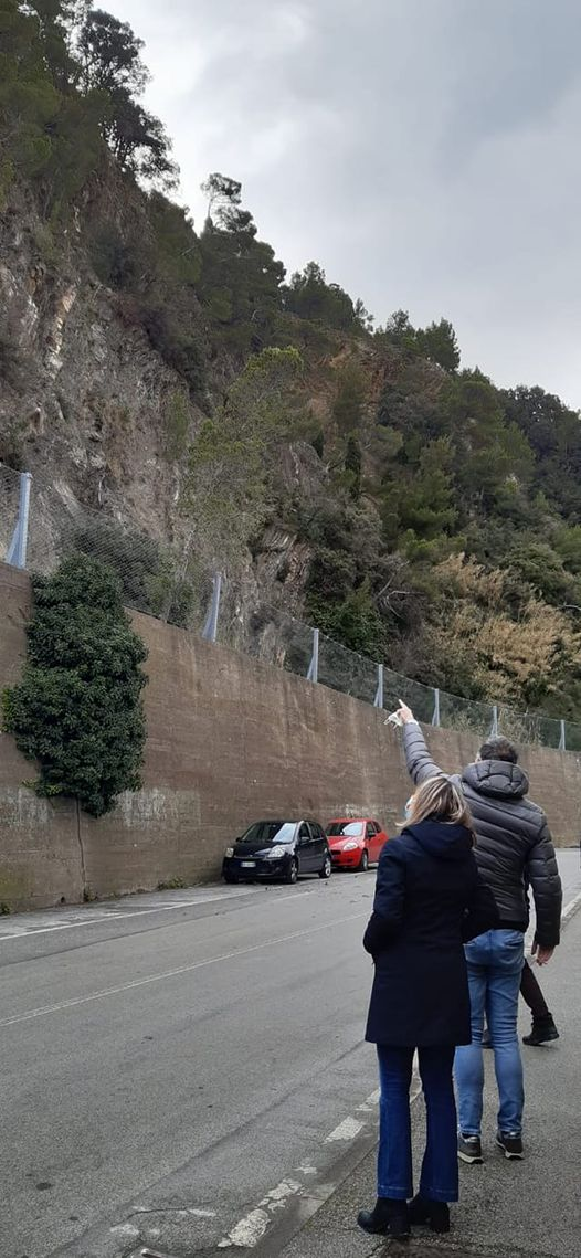 Riva Trigoso: frana, chiusa al traffico via Gramsci