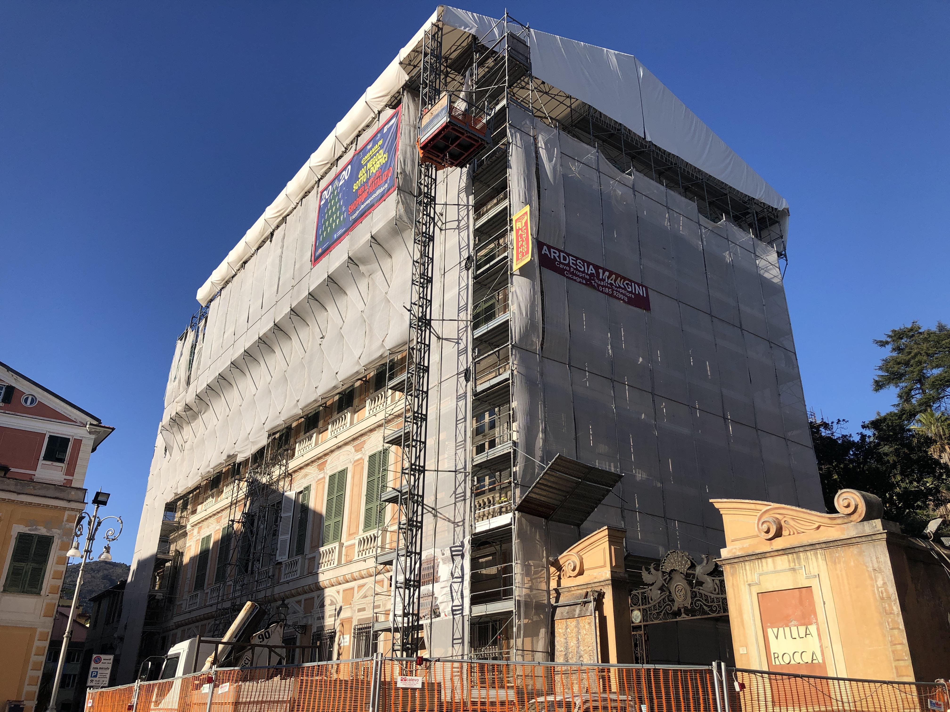 Chiavari: prospetti ovest ed est di Palazzo Rocca, assegnati i lavori