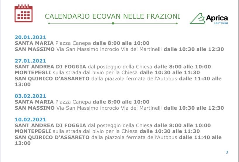 Rapallo: rifiuti ingombranti il calendario di ecovan