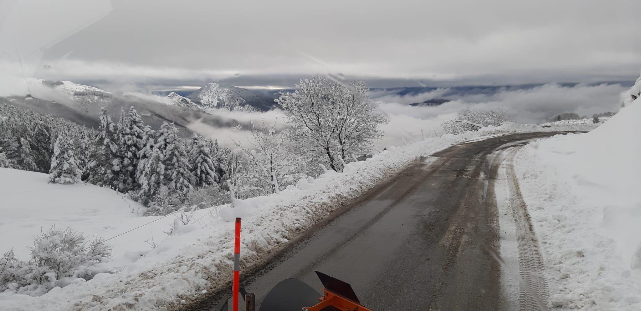 Val di Vara: emergenza neve