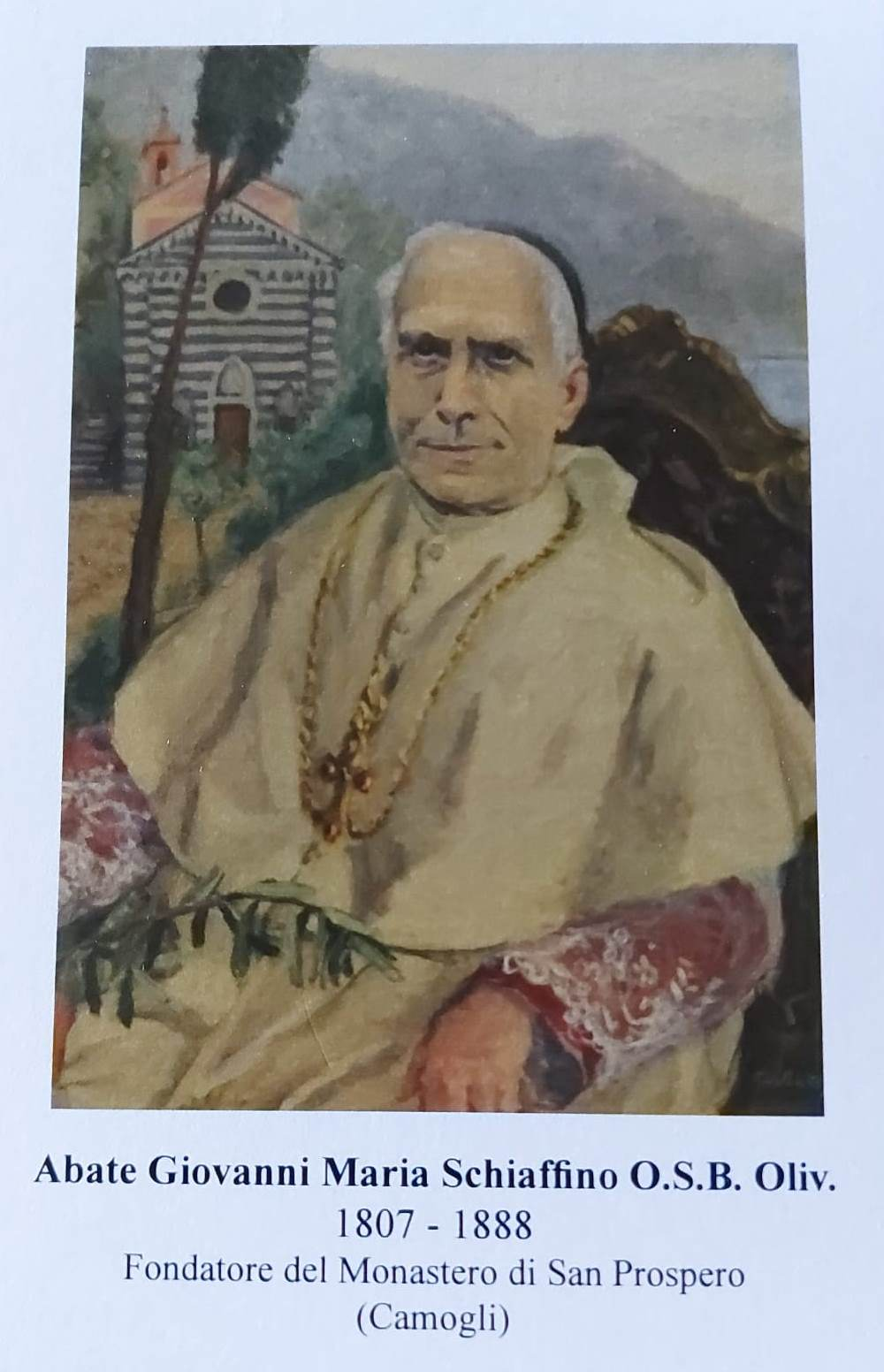 Camogli: beatificazione dell'abate Schiaffino, le immaginette