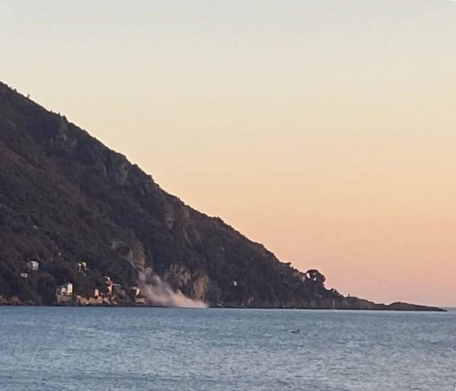 Punta Chiappa: rogo  misterioso e detriti sospetti