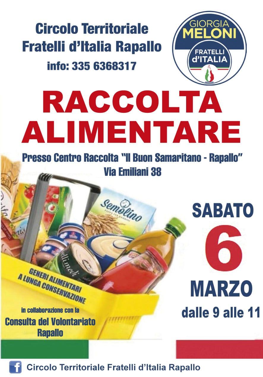 Rapallo: sabato raccolta alimenti per famiglie disagiate