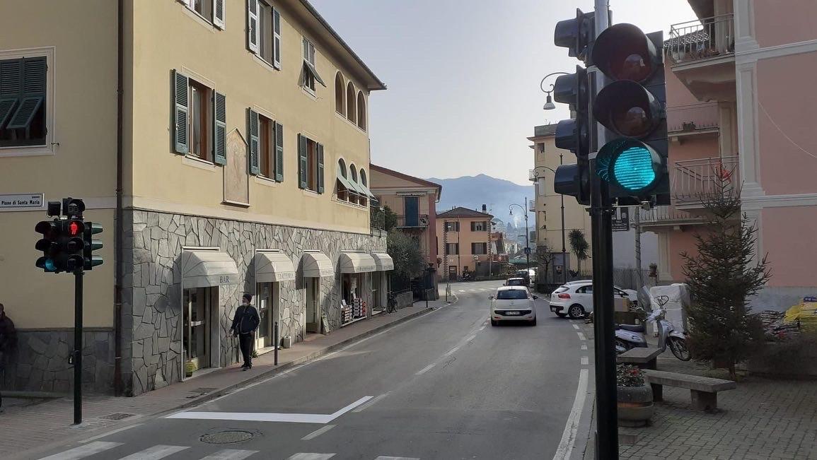 Rapallo: frazioni, il debutto di due nuovi semafori