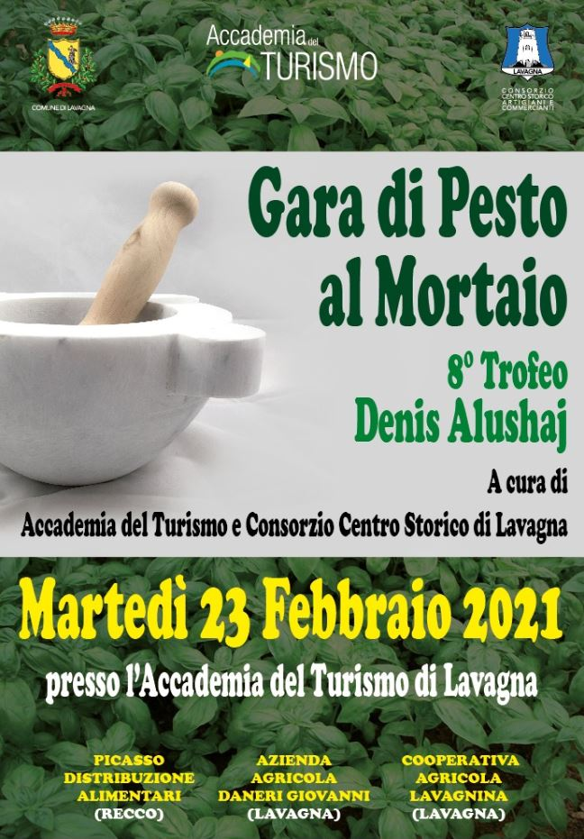 """Lavagna: Trofeo di Pesto al Mortaio """"Denis Alushaj"""" all'Accademia del Turismo"""