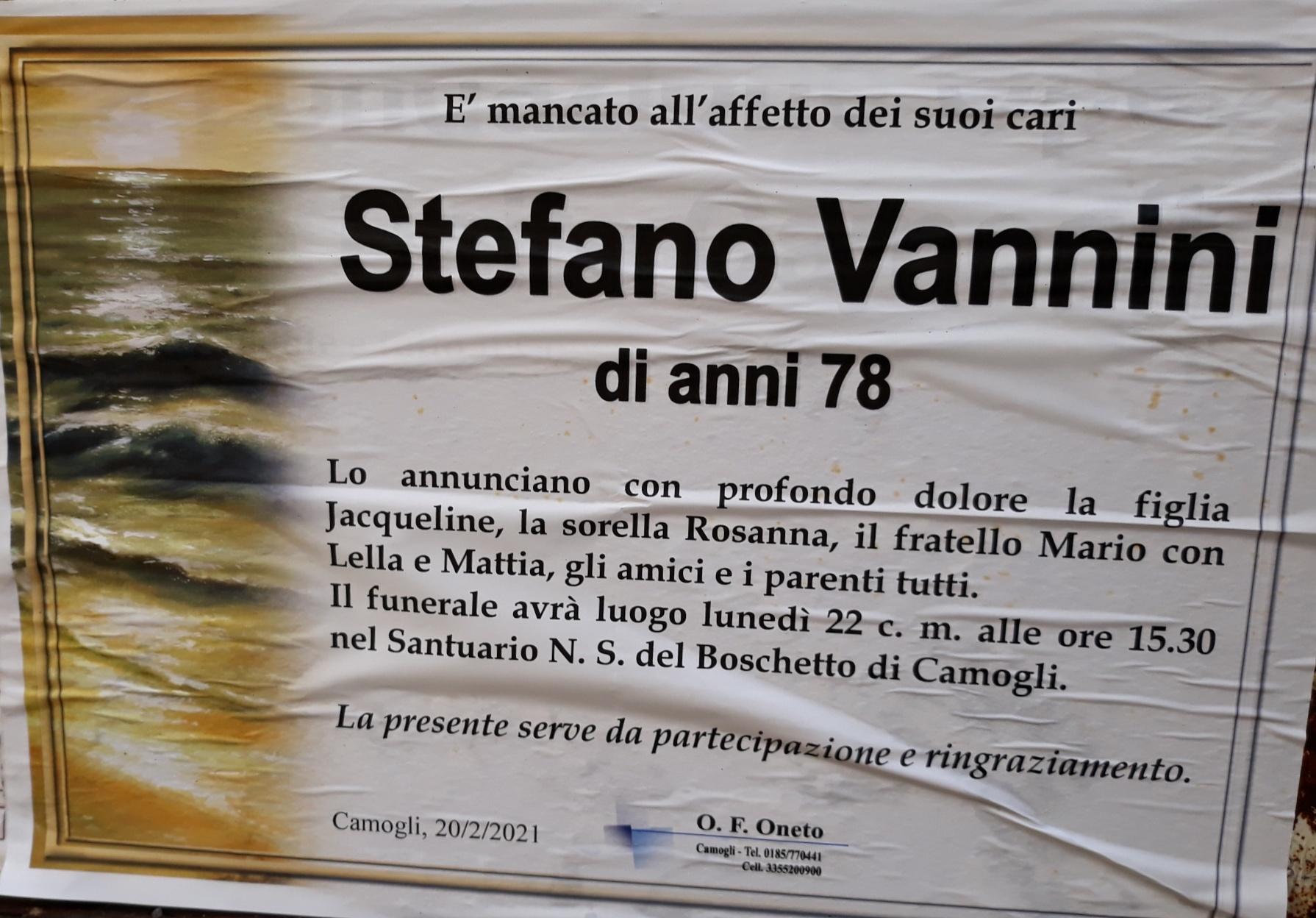 Camogli: è morto Stefano Vannini,  lunedì i funerali