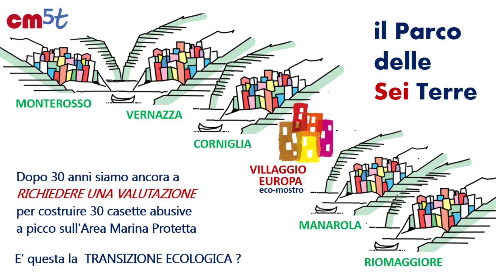"""Cinque Terre: """"No al villaggio, sì alla bonifica"""""""