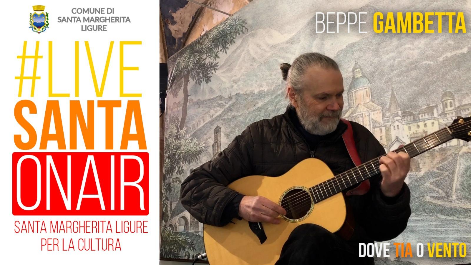 'Santa': lunedì Beppe Gambetta per il debutto di #livesanta on air