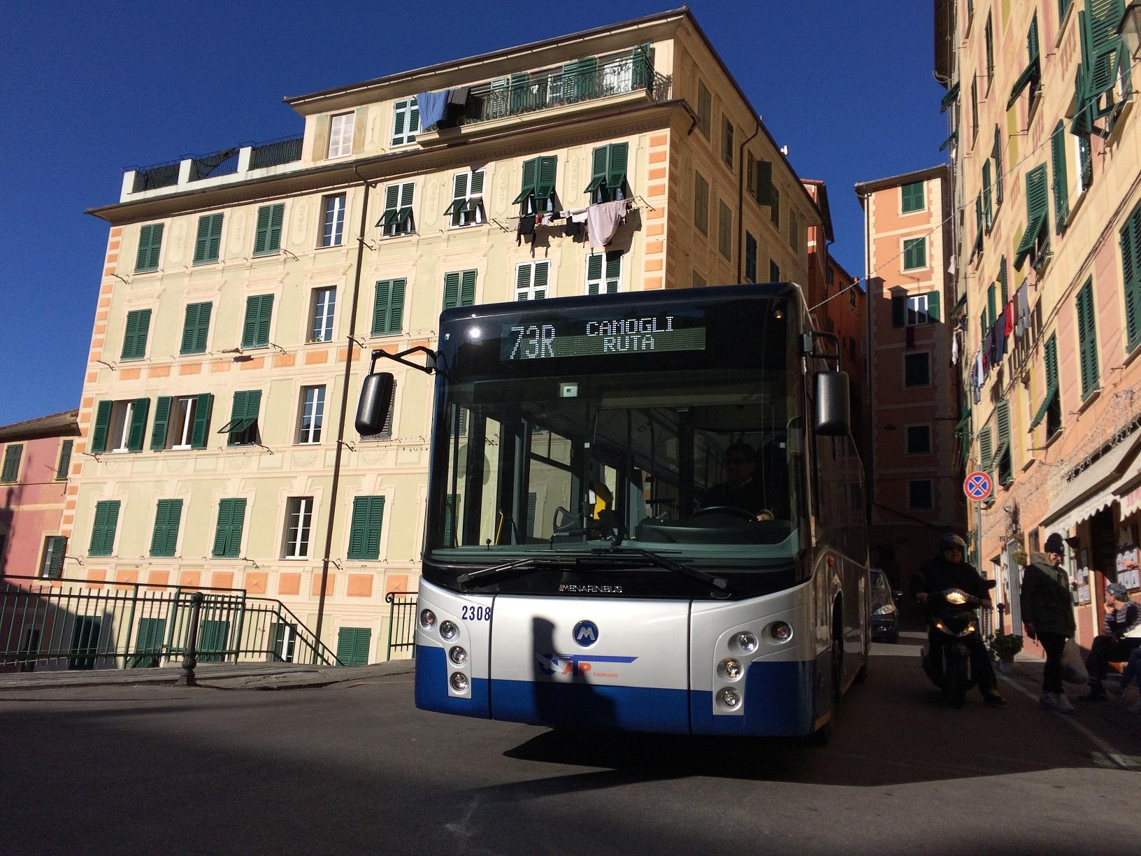 Camogli: bus, variazioni al percorso causa chiusura via Ruffini