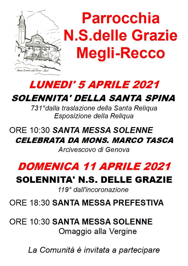 Recco: l'arcivescovo Marco Tasca, lunedì sarà a Megli