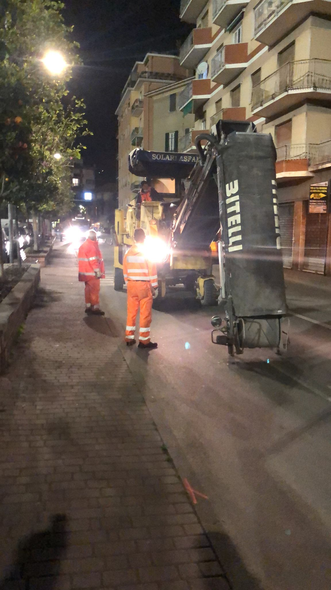 Rapallo: in corso le asfaltature notturne