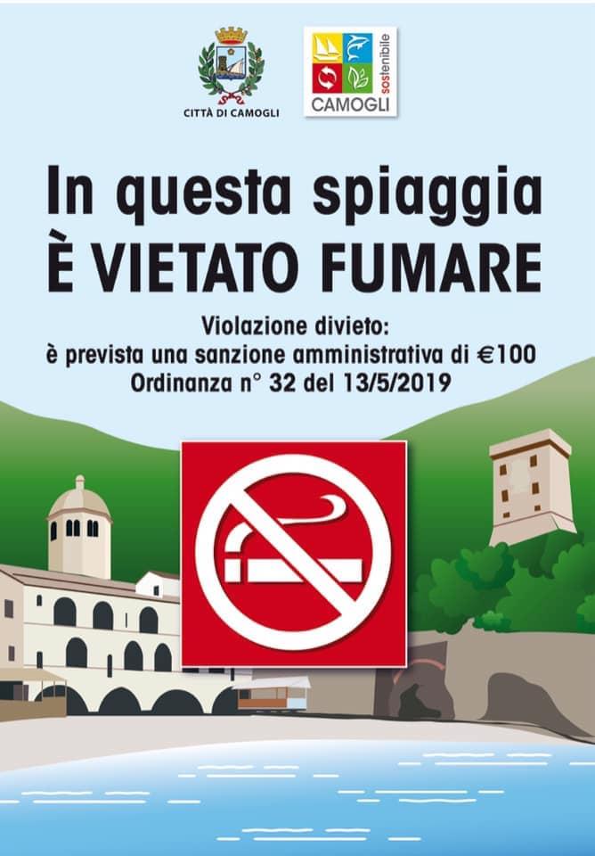 Camogli: divieto di fumo, il Comune rilancia l'ordinanza del 2019