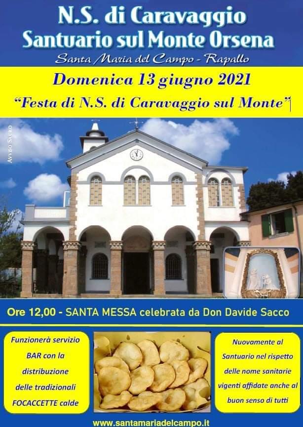 Rapallo: festa della Madonna di Caravaggio sul monte Orsena